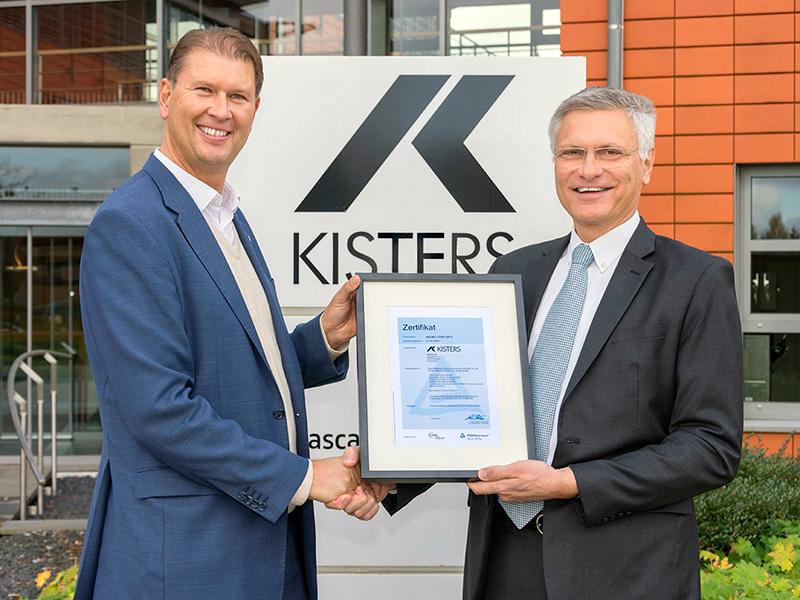 KISTERS AG erhält Zertifikat