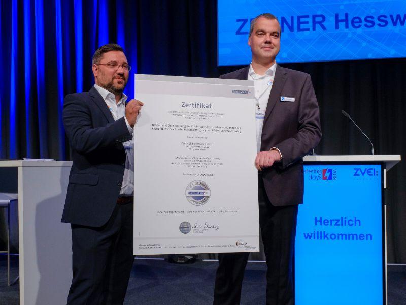 ZENNER Hesware Iso 27.001 Zertifikat EMT-Plattform