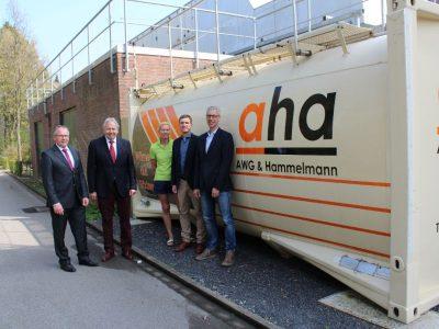 Klimaschutz durch Wärmecontainer am Olympiabad in Ennigerloh