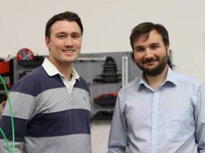 Bipolymere-Erfinder Martin Huber (rechts) und Invester Artur Steffen, beide CEO der poligy GmbH