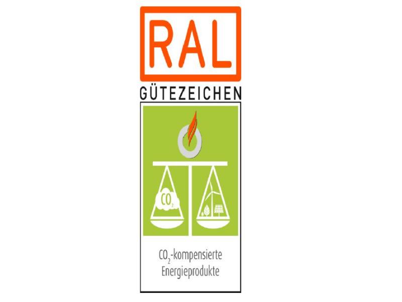 RAL Gütezeichen CO2-kompensierte Energieprodukte