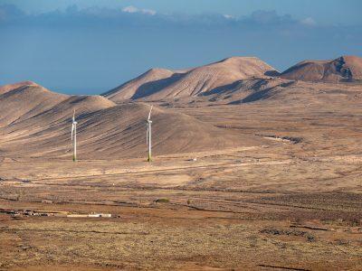 Erneuerbare Energien - Windkraftanlagen auf den Kanaraen