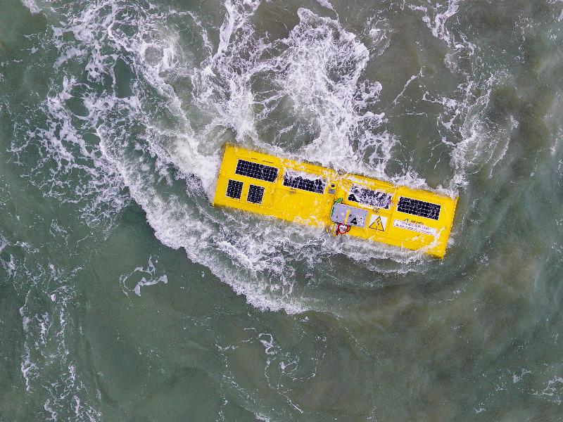 Wellenkraftwerk in der Nordsee