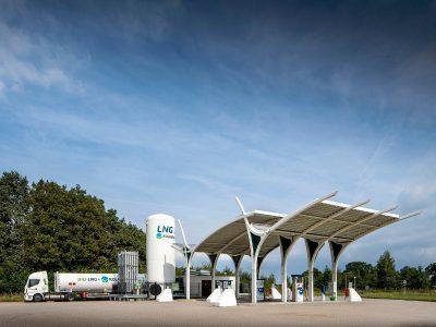 Flüssigerdgas (LNG)-Tankstelle von Rolande