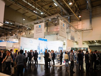 E-world-Messestand der co.met GmbH
