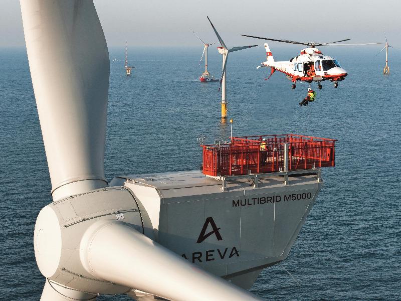 Bau Offshore-Windanlagen