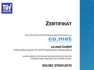 co.met erfolgreich re-zertifiziert