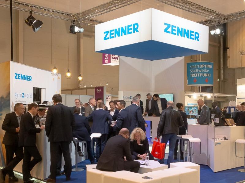 Messestand vov Zenner, Spezialist für IoT-Lösungen