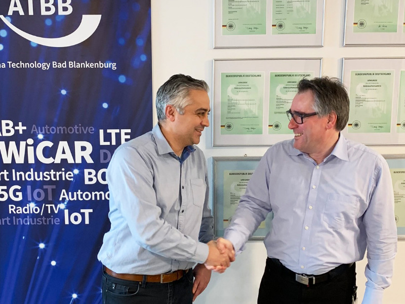 Thomas Hemmer, co.met , und Dr. Michael Weber, ANTENNENTECHNIK Bad Blankenburg