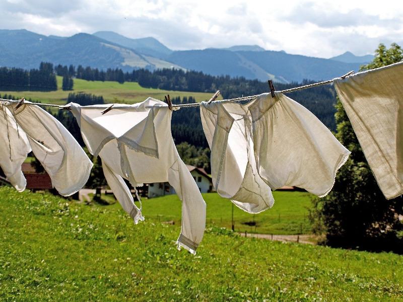 Auswrkungen des Herstellens und Waschens auf die Umwelt